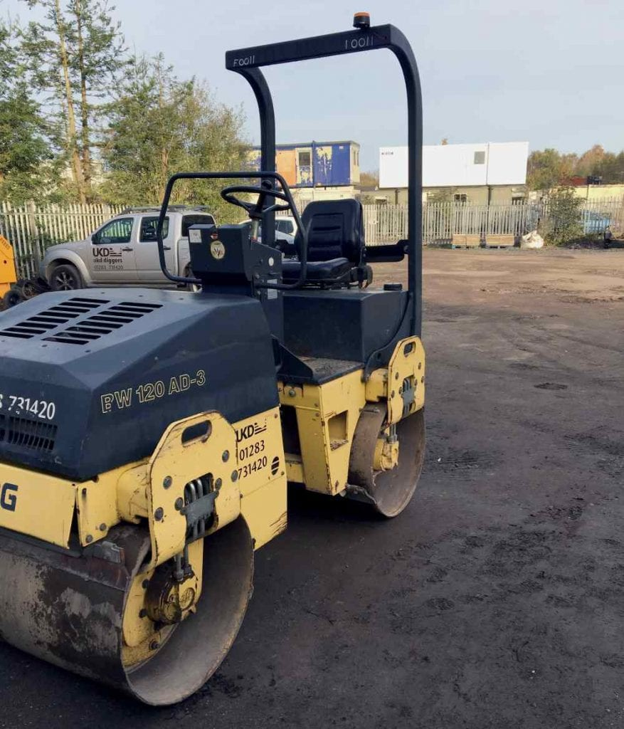 Bomag 120cm Twin Drum Road Roller Hire in Derby