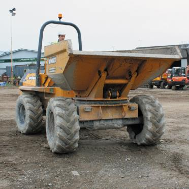 Dumper truck hire Derby, Burton and Nottingham - driver operating a dumper truck
